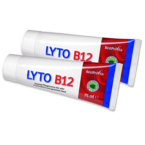 Lyto B12 2 Tuben Spezial-Pflegecreme bei Neurodermitis und Psoriasis, mit Vitamin B12 und...