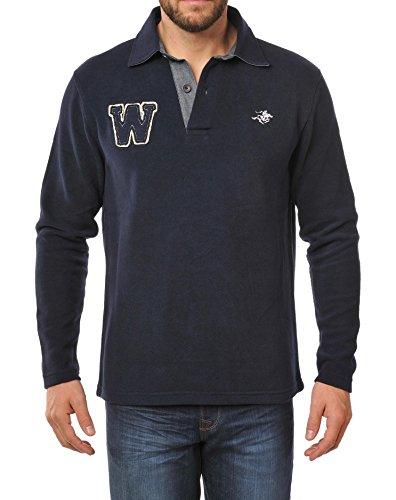 Winchester craig5Sweat Kragen Polo Größe M marineblau