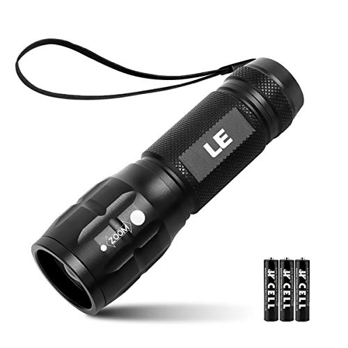 LE LED Taschenlampe,Zoombar Taschenlampen,Superhelle CREE LED,Handlampe mit einstellbarem Fokus,3 Licht Modi,LED Camping Flashlight für Kinder,Outdoor Camping(Inklusive 3 AAA Batterie)