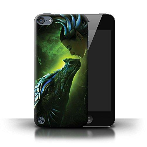 Preisvergleich Produktbild Offiziell Elena Dudina Hülle / Case für Apple iPod Touch 5 / Grünen Schuppen Muster / Drachen Reptil Kollektion