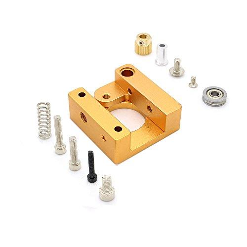 Redrex Aluminium Rahmen rechten MK8 Extruder für 3D-Drucker Reprap Prusa i3 - Professionelle Stärke Zahn