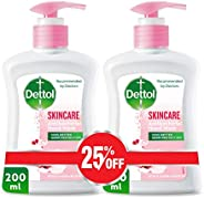 Dettol Skincare Anti-Bacterial Liquid Hand Wash 200ml Twin Pack At 25% Off