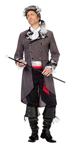 Kostüm Rokoko Herr Marquis grau Karneval Barock Renaissance Herrenkostüm Größe 58 (Renaissance Kostüm Material)