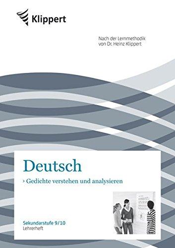 Gedichte verstehen und analysieren. Lehrerheft (9/10) (Klippert Sekundarstufe)