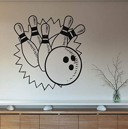 (Hwhz 59X59 Cm Bowling Spiele Wandaufkleber Steuern Dekor Wohnzimmer Vinyl Wandtattoos Kinder Kindergarten Wanddekoration)