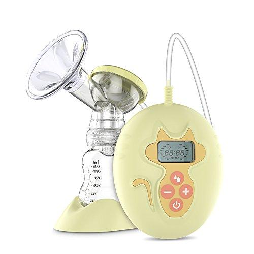 Elektrische Milchpumpe, angeer Single Stillen Pumpe Advanced Brust Milch Pumpe mit verstellbarem Saugnapf Stärke (gelb)