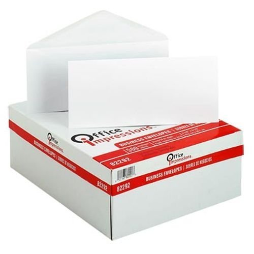 "Preisvergleich Produktbild Office Impressions Plain Windowless Envelope 4-1/8"" x 9-1/2"" White 500ct OFF 82292 by MegaDeal"
