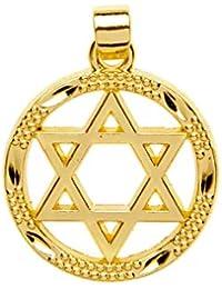 Kabbalah Israel Baádo En Oro Amarillo Cerrado Estrella De David Colgante Judío Encanto De Judaica 20