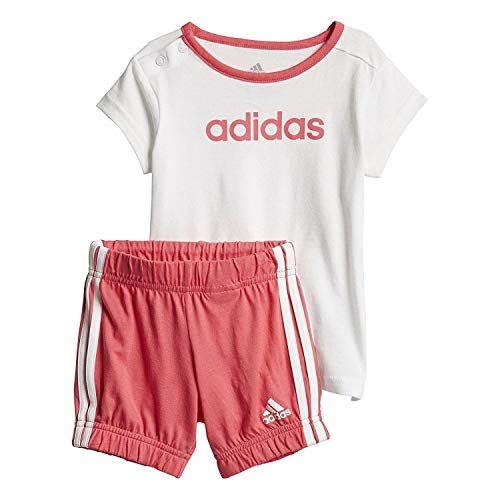 adidas Kinder Sommer Easy Set T-Shirt Und Shorts, White/Chapnk, 86