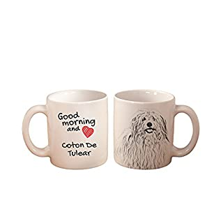 ArtDog Ltd. Coton de Tulear, Einem Becher mit Einem Hund, hohe Qualität, Tasse, aus Keramik