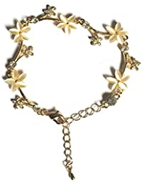 Glitz Fashion 18K Yellow Gold Plated White Crystal Stud Floral Bracelets Valentine's Day Gifts