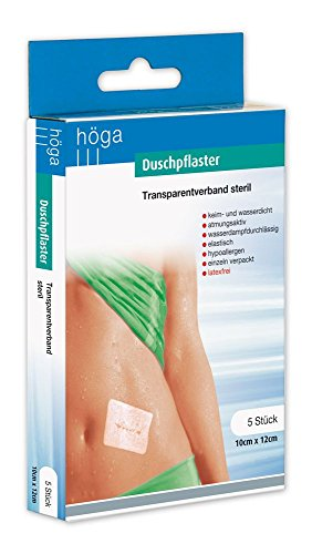 duschpflaster apotheke Duschpflaster, Transparentverband steril 10 cm x 12 cm, 5 Stück, 1er Pack (1 x 5 Stück)