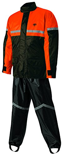 Nelson-Rigg Stormrider Rain Suit (Black/Orange, X-Large) by Nelson-Rigg -