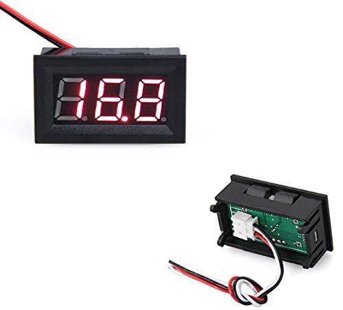 Romote Mini Paneles voltímetro Digital Probador DC 0-100V Rojo 3 Dígitos
