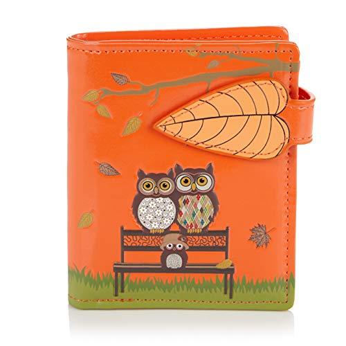 Shagwear Junge-Damen Geldbörse, Small Purse Designs: (Parkbank Orange/The Park Bench) - In Voller Größe Bench