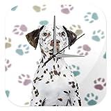 Wanduhr Hunde Rasse Dalmatiner Pfoten Tapete Acryl Dekouhr Vintage