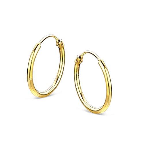Orovi Damen Gold -Creolen Ohrringe GelbGold Ohrringe 14 Karat (585) Ohr-Schmuck