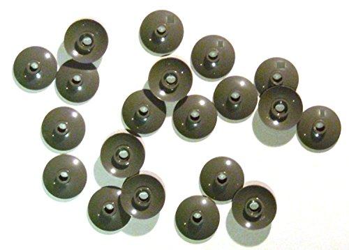 Preisvergleich Produktbild LEGO CITY - 20 x SAT SCHÜSSEL in dunkelgrau (dark bluish gray) - runde Scheiben DISH - 4740