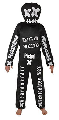 Voodoo Puppe Einheitsgrösse XXL Kostüm Exlover Karneval