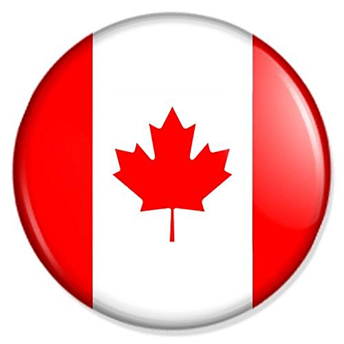 Flagge Kanada Magnet mit 25 mm Durchmesser