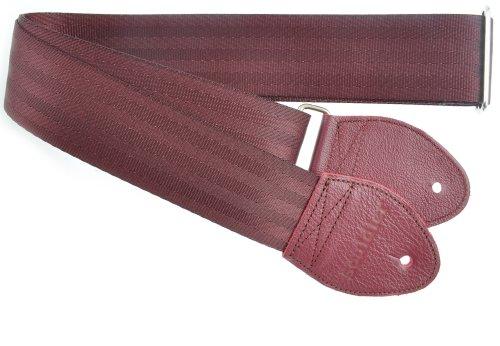Souldier Custom Recycling Sicherheitsgurt für E-Gitarren Burgundy Maroon