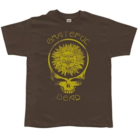 Grateful Dead - para hombre Suave de acero Your Face T-camiseta de manga corta Diseño de sol