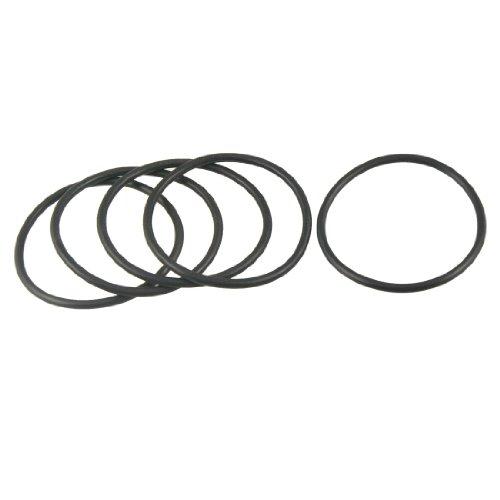 sourcingmap 5 piezas de 65 mm x 58 mm x 3,5 mm de goma flexible de anillo o sello Lavadora Negro