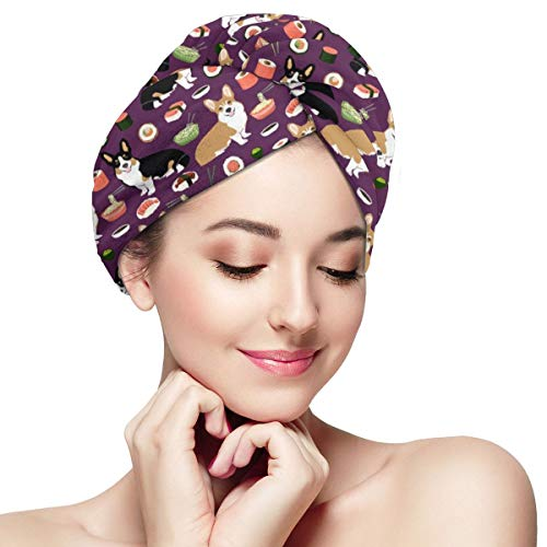 Esta toalla suave para el cabello seco es la mejor toalla para el cabello de su esposa e hija, una gorra práctica para el cabello seco y una toalla de secado rápido para secar el cabello en cualquier momento y en cualquier lugar.