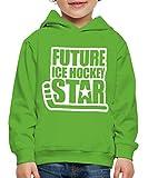 Spreadshirt Eishockey Future Ice Hockey Star Kinder Premium Hoodie, 122/128 (7-8 Jahre), Hellgrün