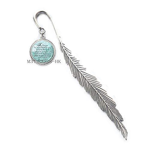 Segnalibro con scrittura, segnalibro, gioielli spirituali, per i conosco i piani I have for you, regalo religioso MT076