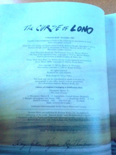 The Curse of Lono by Hunter Thompson (1983-12-31)