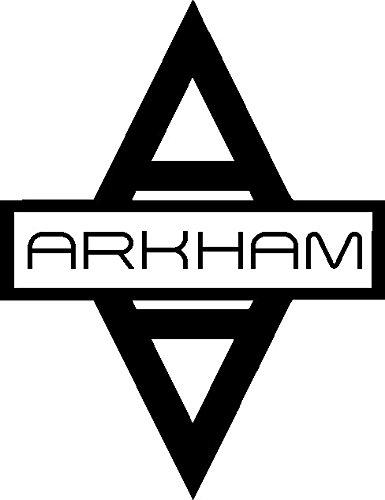 Preisvergleich Produktbild 1 x 2 Plott Aufkleber Arkham Asylum Gotham City Batman Dark Knight Rises Sticker