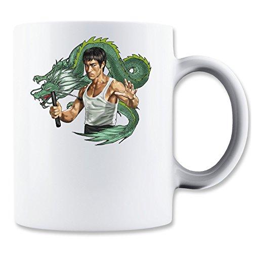 Bruce Lee With Dragon Design Mug -