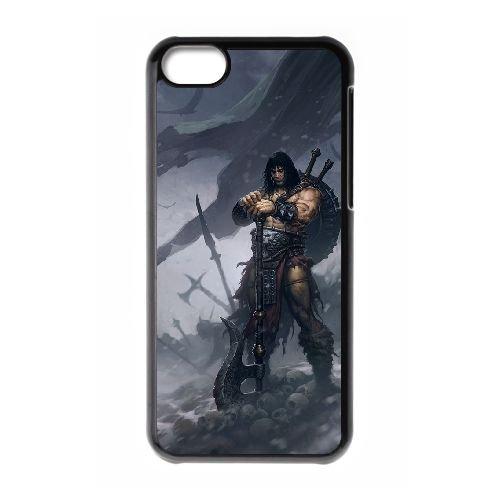Diablo coque iPhone 5C Housse téléphone Noir de couverture de cas coque EBDXJKNBO09147