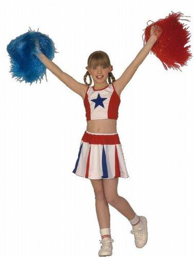 Baseball Für Kostüm Mädchen Halloween (Widmann 38147 - Kinderkostüm Cheerleader, Rock und Top, Größe)