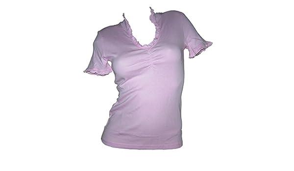 63803bf068c0ba Chillytime Stehkragen T Shirt rosa mit Rüschen Gr 36 38 S 40 42 M 44 46  (36 38