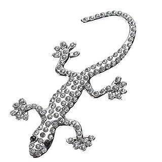 Autoaufkleber Strass Metall LKW Auto Dekor 3D Emblem Eidechse Gecko Solid Logo Aufkleber Aufkleber Auto Styling, 2 Stück, Persönlichkeit Zeigen