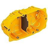 Legrand LEG90542 Boîte d'encastrement 2 postes Batibox plaque de plâtre profondeur 40 mm