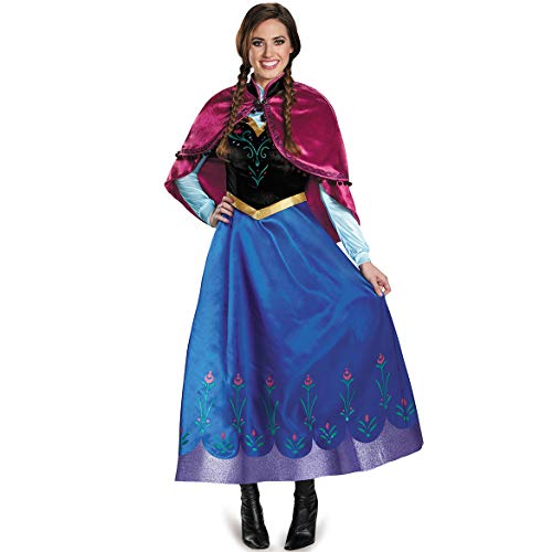 DASENLIN Damen Kostüm Für, Halloween-Kostüm, Sexy EIS Und Schnee Anna Prinzessinnenkleid, Rollenspiel Uniform,XL (Anna Kostüm Damen)