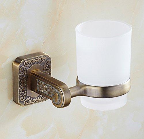 Brosse à dents porte-gobelet Xzi acier inoxydable Porte-gobelet unique Blanc Coupe européenne style rétro 13 * 10cm A+