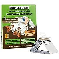MIT'CLAC - trampa de polilla de alimentos, juego de 4, acción rápida, ideal para cocina o almacenamiento