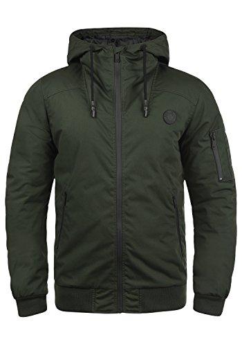 !Solid Tilly Sporty Herren Übergangsjacke Herrenjacke Jacke gefüttert mit Kapuze, Größe:M, Farbe:Climb Ivy (3785)
