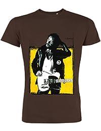 Pushertees - T-Shirt Mann Chocolat LTB-88 Sänger rock folk idolo delle geschwarzzioni BOSS SPRINGSTEEN