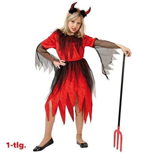 Kinder-Kostüm Teufel Rubina Teufel-Kostüm Devil Satan Hölle Teufelin Teufel-Kleid - Satan Teufel Kostüm