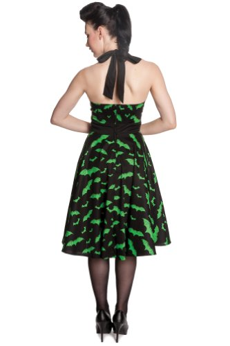 Hell Bunny dell'abito BAT 1524 cm DRESS S Black-Green