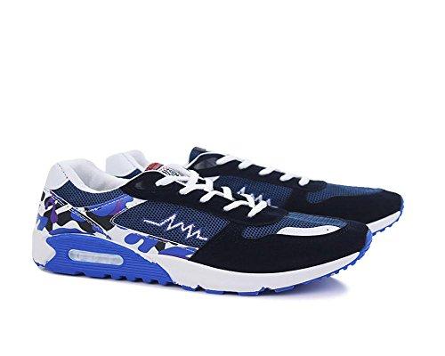 Scarpe sportive da uomo Tempo libero Scarpa traspirante Superficie della maglia jogging Scarpa blue xd99