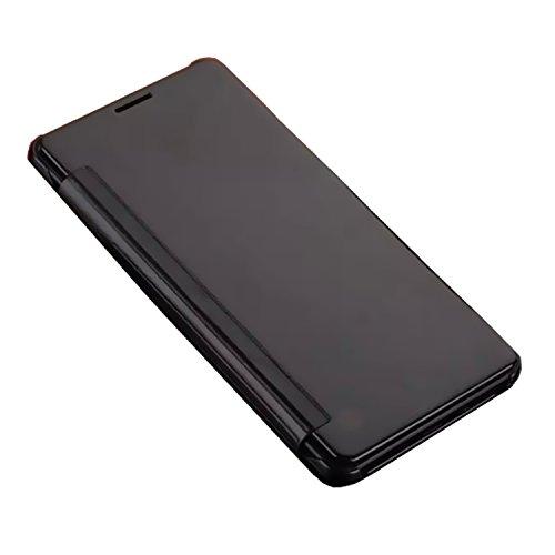 BeVifi, cover di lusso sottile e trasparente a libro con strato di metallo applicato mediante galvanostegia ed effetto specchio per Samsung Galaxy A3, A310(2016), A5,A510(2016), A7,A710(2016), A9,A9100, J1,J120(2016), J5(2016), J510, J7,J710(2016), Note 5, Pelle, J120 (2016 J1) - Black, J120 (2016 J1)