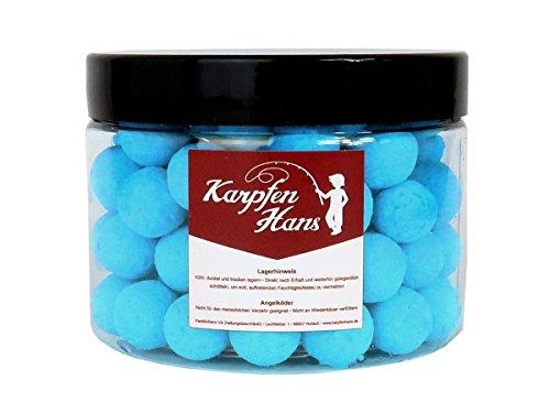 Karpfenhans Pop Up Fluo blau Boilie 12 mm 75 g Popups Boilies -