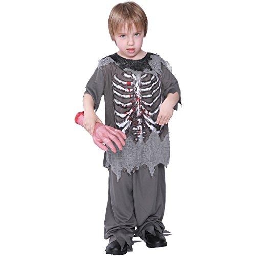 EraSpooky Skelett Zombie Kostüm Blut Hemd Faschingskostüme Cosplay Halloween Party Karneval Fastnacht Kleidung