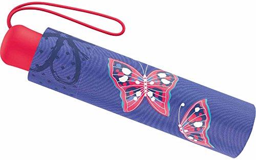 Scout Kinder Regenschirm Taschenschirm Schultaschenschirm mit Reflektorstreifen extra leicht Savage Schmetterlinge
